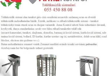 ☆Турникет – продажа в Азербайджане ☆055 450 88 08 ☆